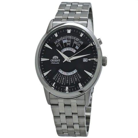 Orient Men's FEU0A003BH 'Perpetual Calendar' Stainless Steel Watch - Black