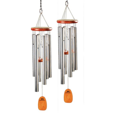 Amazing Grace Metal Wind Chime - Set of 2 - 6 in. x 16 in. x 25 in.