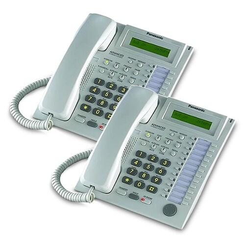 Panasonic-KX-T7731W (2 Pack) Speakerphone Telephone With LCD