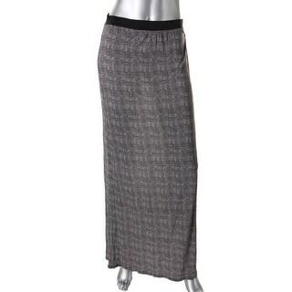 Joie Womens Kariana B Printed Side Slit Maxi Skirt - M