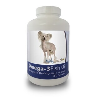 Healthy Breeds Chinese Crested Omega-3 Fish Oil Softgels