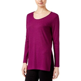 Kensie Womens Pullover Top Ribbed Tunic