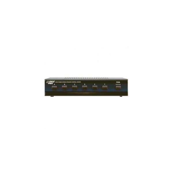 pyle audio T52580B Pyle Home PSS6 6-Channel High Power Stereo Speaker Selector