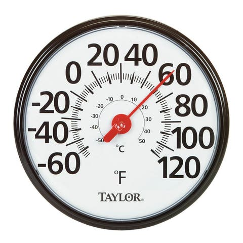 """Taylor 6700N Indoor and Outdoor Dial Thermometer, 13-1/2"""""""