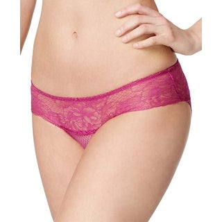 Wacoal Womens Purple Wine So Sophisticated Lace Hipster Panty Medium M