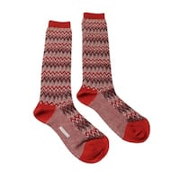 Missoni GM00CMD5222 0006 Red/Cream Knee Length Socks