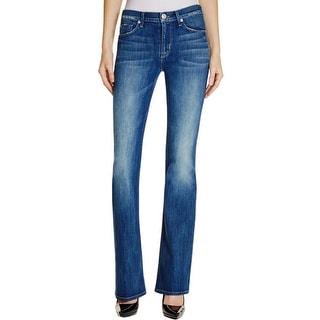 Hudson Womens Love Bootcut Jeans Mid-Rise Denim