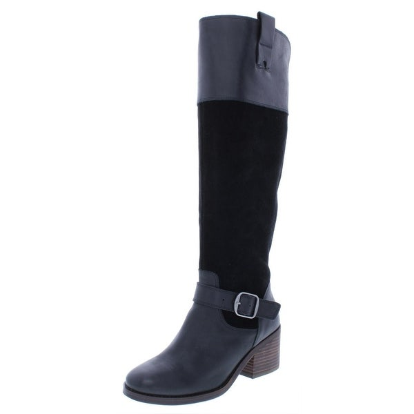 a61913630ab Shop Lucky Brand Womens Kailan Riding Boots Solid Knee-High - Free ...