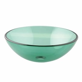Glass Bathroom Vessel Sink Drain Included Tempered Green