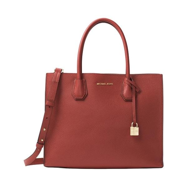 612eb0b40fcb MICHAEL Michael Kors Womens Mercer Tote Handbag Leather Shopper - Medium