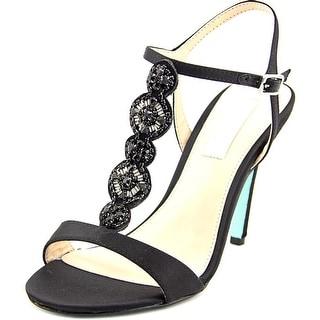 Betsey Johnson Chloe Women  Open Toe Canvas Black Sandals