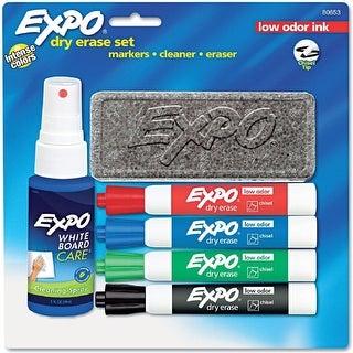 Expo 80653 Low Odor Dry Erase Marker Starter Set, Assorted, 4/Set