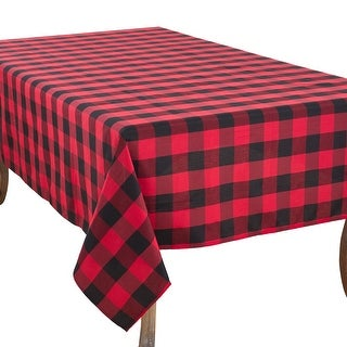 Link to Casual Tablecloth with Buffalo Plaid Design Similar Items in Table Linens & Decor