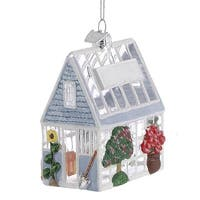 Kurt Adler Noble Gems Greenhouse  Holiday Ornament Glass