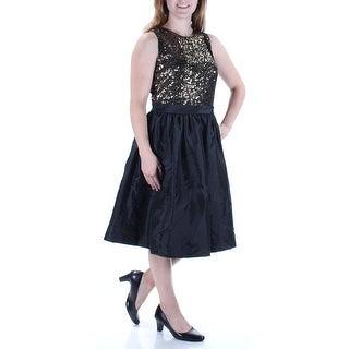 CALVIN KLEIN $179 Womens 1193 Black Sequined A-Line Dress 8 B+B