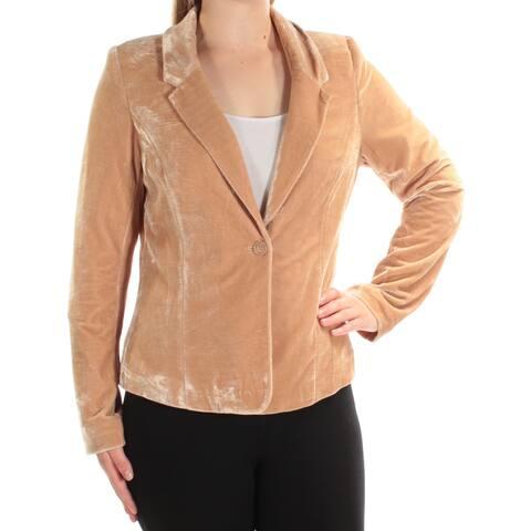 KENSIE Womens Brown Blazer Jacket Size M