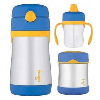 Thermos Foogo 10oz Straw Bottle w/ 10oz Food Jar & 8oz Soft Spout Sippy Cup