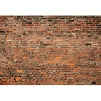 "Brewster WG5195-4P-1 Brick Wall 100"" x 144-3/4"" Non-Pasted Repositionable Vinyl - Red"