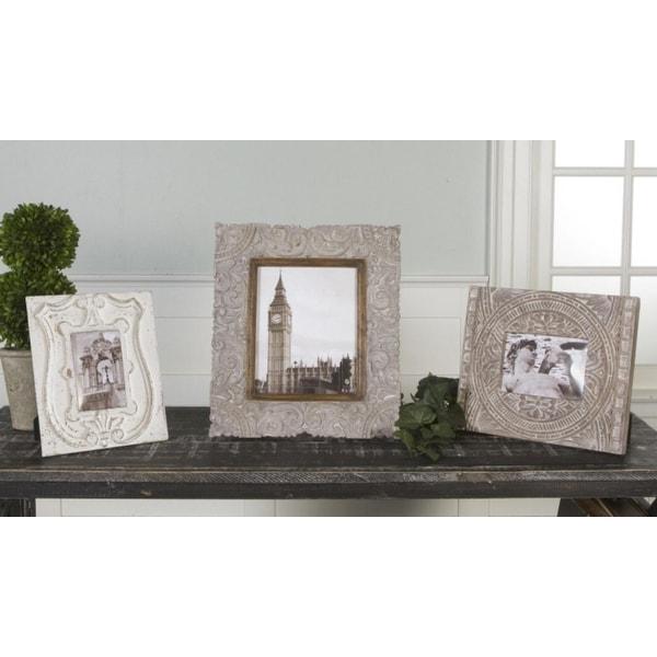 Shop Set of 3 Victorian Elegants Off-White Antique Finish Photo ...