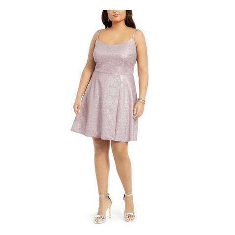 MORGAN & CO Pink Spaghetti Strap Short Dress 24W