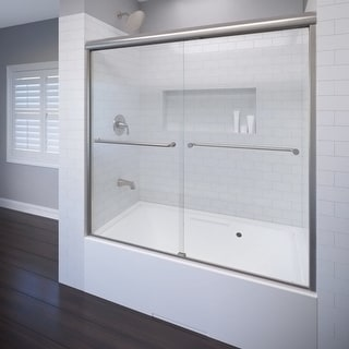 """Basco A0582-60CL  Celesta 58-1/4"""" High x 60"""" Wide Bypass Framed Tub Door with Clear Glass"""