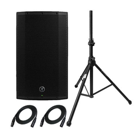 """Mackie Thump12A 1300W 12"""" Powered Loudspeaker with Stand & XLR Cables"""