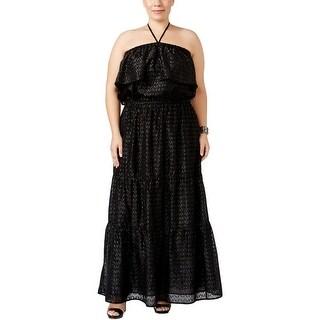 MICHAEL Michael Kors Womens Plus Maxi Dress Metallic Halter
