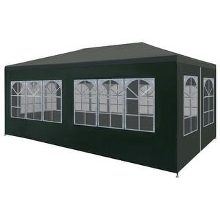 "vidaXL Party Tent 9'10""x19'8"" Green Outdoor Canopies Pavilion Gazebo Garden"