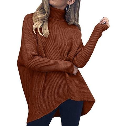 Turtleneck Sweater Loose Plus Size Sweater