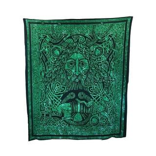 Courtney Davis Celtic Green Man Tapestry/Bedspread