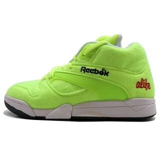 Reebok Men's Court Victory Pump Felt Felt Yellow/Black-Ice-Red Tennis Ball Alife M49793