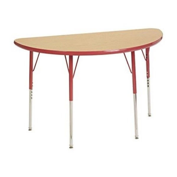 Half Round Adjustable Activity Table With Toddler Legsu0026amp;#44