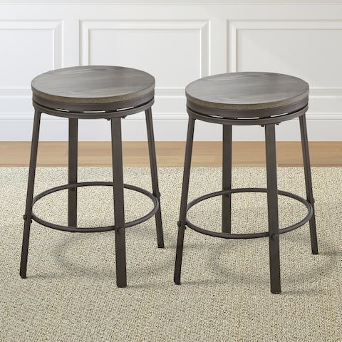 Perry Grey Counter Height Swivel Stool by Greyson Living (Set of 2) - See Product Description