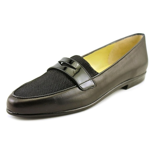 Amalfi By Rangoni Orlando Women N/S Round Toe Leather Black Loafer