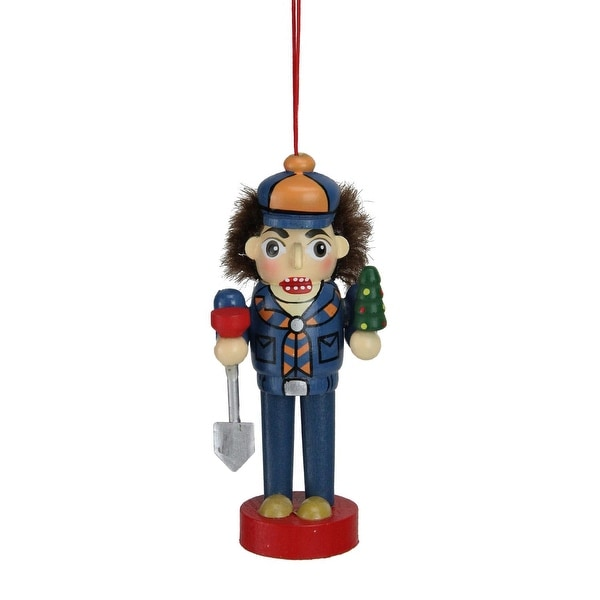 "4"" Cub Scout in Blue Uniform Wooden Nutcracker Christmas Figure Ornament"