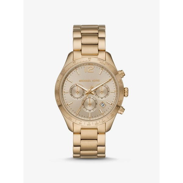 Oversized Layton Gold-Tone Watch - One Size. Opens flyout.