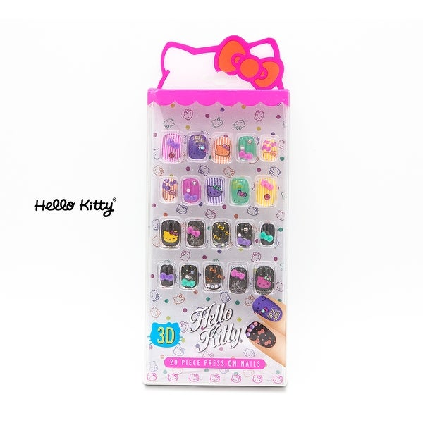 3d9df874e Shop SANRIO Hello Kitty 20 Piece Press on Nails for Kids Cosmetics Set -  Free Shipping On Orders Over $45 - Overstock - 26975848
