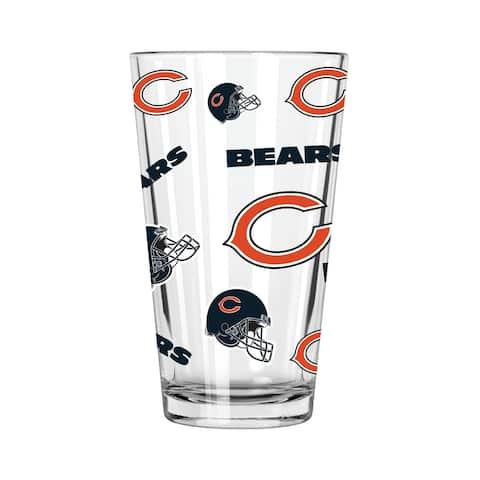 Chicago Bears All Over Print 16oz Pint Glass