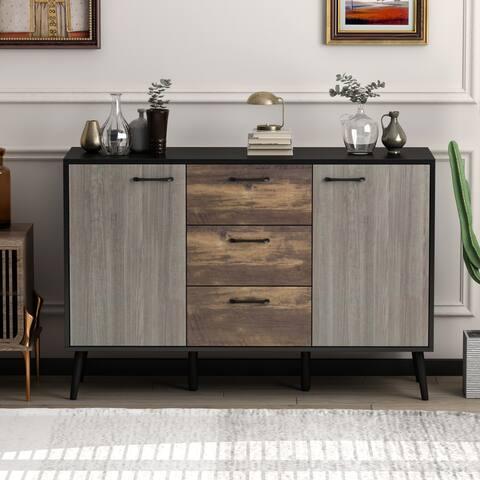 Kerrogee 3-Drawer Chest with 2 Doors - 47-Inch Storage Dresser