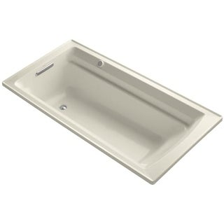 """Kohler K-1124-G Archer Collection 72"""" Drop In Airpool Bath Tub with Reversible Drain"""