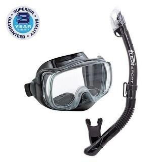 TUSA Sport Adult Imprex 3D Purge Mask and Dry Snorkel Combo