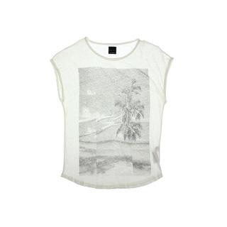 Zara Mens Graphic Raw Hem Muscle Tank