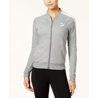 Puma Women's Archive Logo T7 Full Zip Track Jacket Grey, Size X-Small - Grey - Extra Small