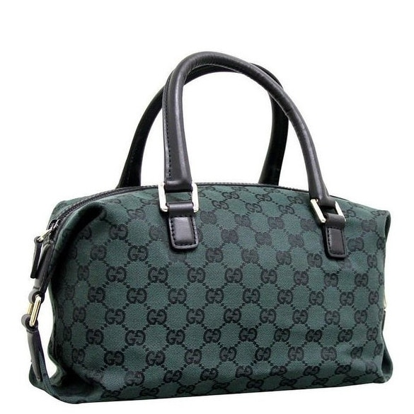 d57e81dd1fa Shop Gucci Dark Green GG Canvas Joy Boston Bag - Free Shipping Today -  Overstock - 15262482