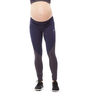 BRAVE Maternity Active Legging  with mid waist and knee mesh detail