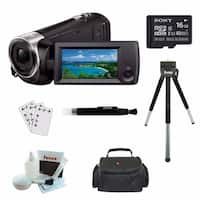 Sony HDR-CX405 HD Video Recording Handycam w/16GB SDHC Memory Card & Acc Kit