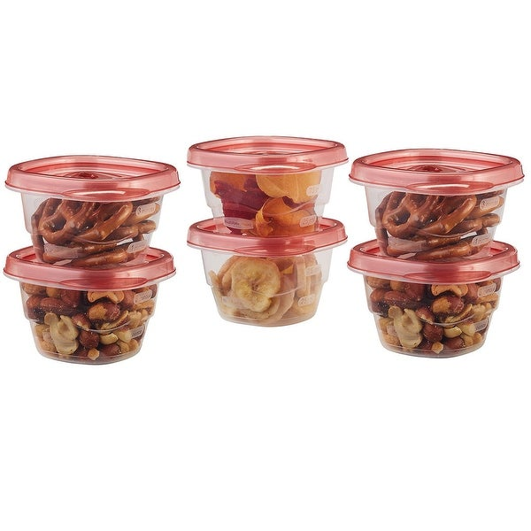 Rubbermaid TakeAlongs Food Storage Container, Chili Red, 0.5 Cup, 6-Count - N/A