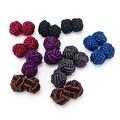 Bold Statement Silk Knot Cufflinks - Thumbnail 0