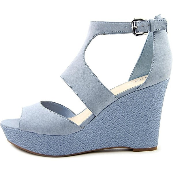 Bar III Sophie Women's Platform Wedge Sandal Misty Blue
