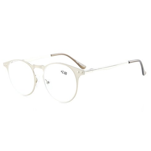6551ac266d2 Shop Eyekepper Readers Quality Metal Frame Spring Temples Round Reading  Glasses Silver +2.75 - Free Shipping On Orders Over  45 - Overstock -  16021751